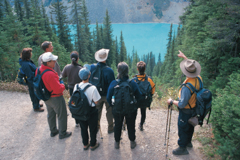 Hikers at Lake Louise, Canada