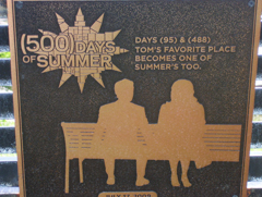 500 Days of Summer Plaque